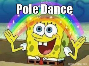 pole dance meme